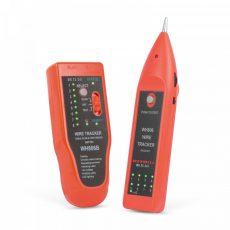 Érpárkereső hangjelzéssel, LED-del - RJ45 kábel teszterrel  - MAXWELL