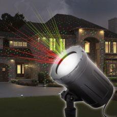 Lézer projektor leszúrótüskével, talppal, zöld / piros - IP44 - 240 V