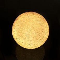 LED kristály hógolyó - 12 cm - melegfehér
