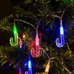 Fényfüzér - LED - nyalóka Színes, elemes 2 m