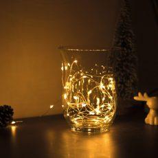 Karácsonyi LED fényfüzér - 5 m - 50 LED - melegfehér - 3 x AA