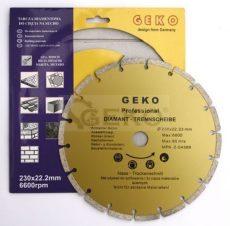 Gyémánt vágótárcsa 230x8x22,2mm szegmentált, PROFI