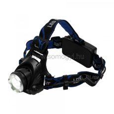 LED-es tölthető fém fejlámpa, ZOOM, 1000 lumen